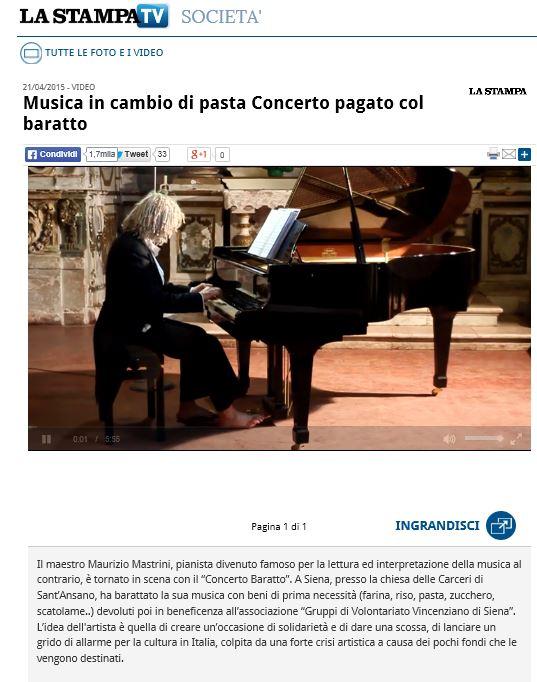 La Stampa, 21/4/2015